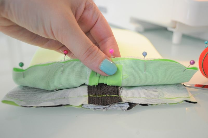 Pin lining for sewing