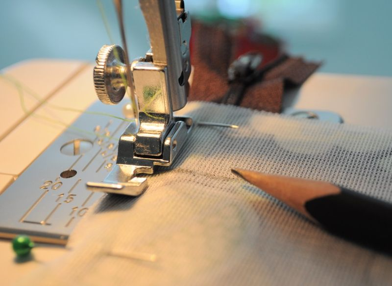 Sewing at mark